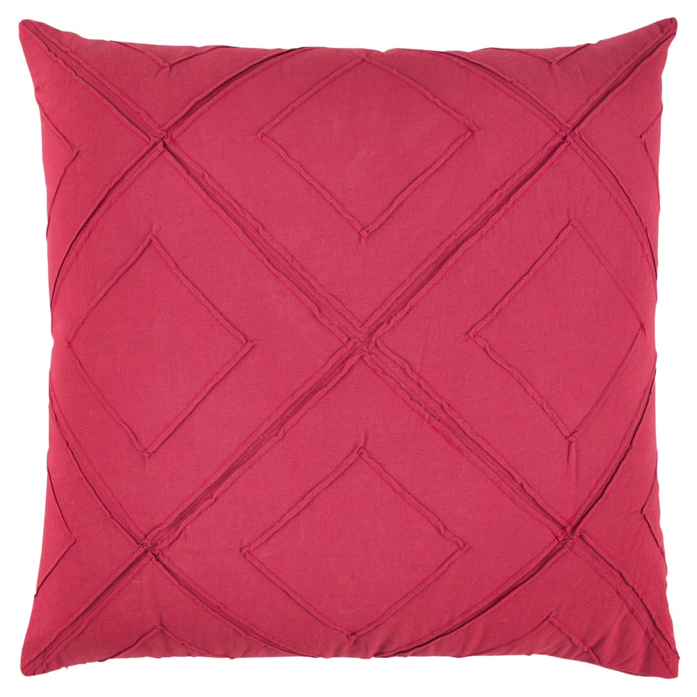 Rizzy Home Deconstructed Diamond Throw Pillow Pink