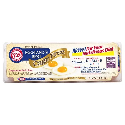 Eggland's Best Cage-Free Grade A Large Brown Eggs - 12ct