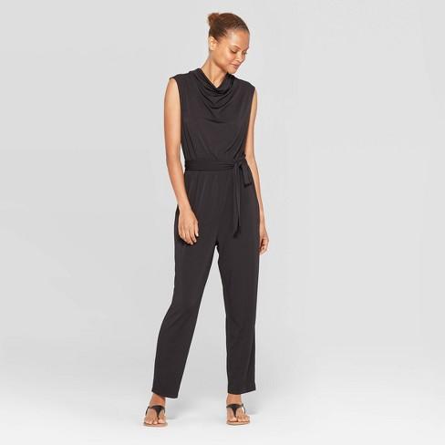 Women's Sleeveless Cowl Draped Neck Jumpsuit - Prologue™ Black - image 1 of 3