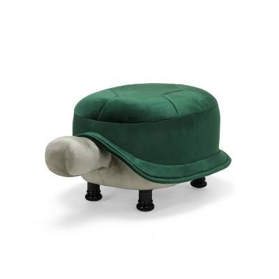 Sheldon Velvet Turtle Ottoman Emerald/Pistachio - Christopher Knight Home