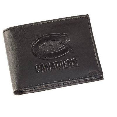 Leather Montreal Canadiens Bi-fold Wallet