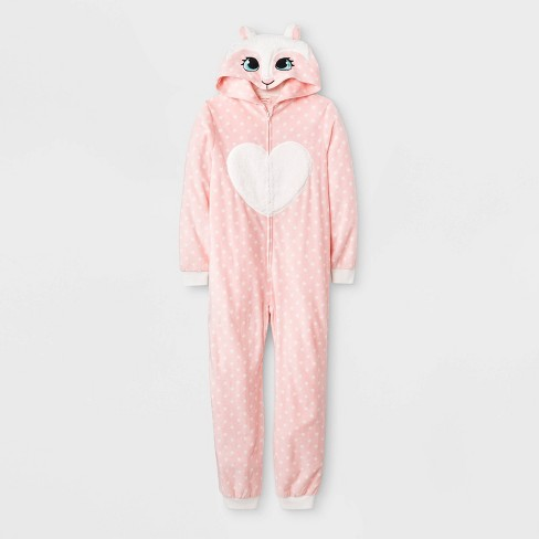 Girls' Llama Union Suit - Cat & Jack™ Pink - image 1 of 1