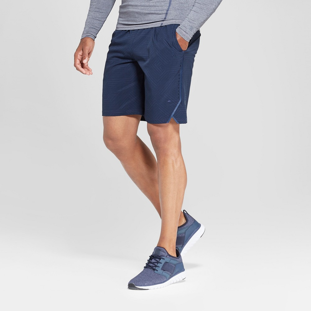 Men's Tonal Printed Stretch Woven Shorts - C9 Champion - C9 Champion Micro Dash Maze Elevation Blue M
