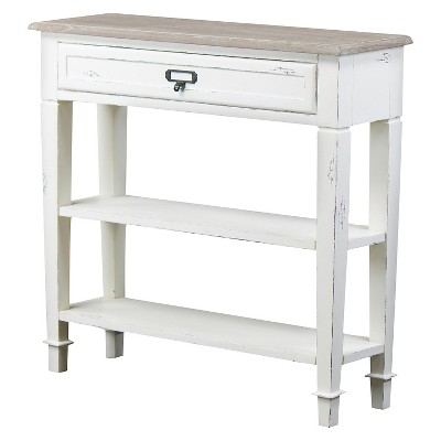 Dauphine Traditional French Accent Console Table 1 Drawer - Baxton Studio