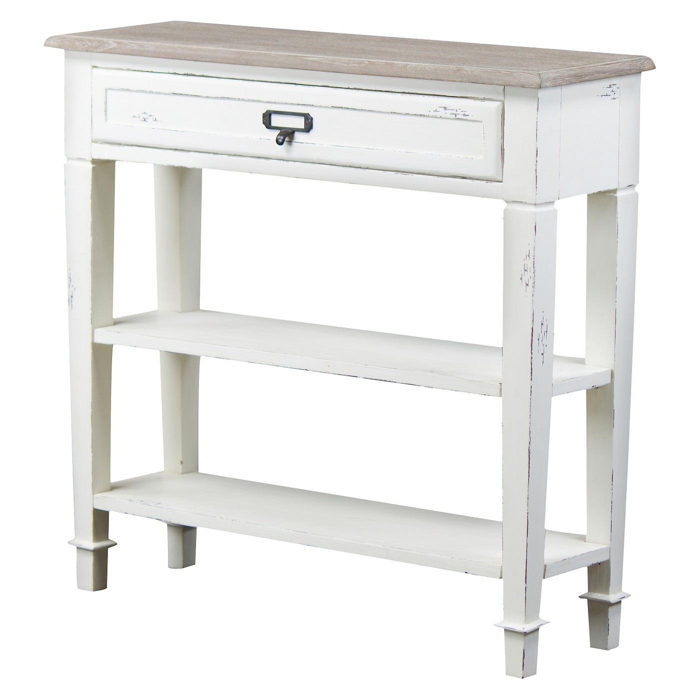 Dauphine Traditional French Accent Console Table 1 Drawer - Baxton Studio - image 1 of 6