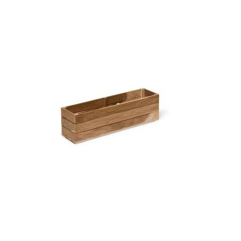 "Teak Windowbox, 8"" x 36"" - Gardener's Supply - image 1 of 2"