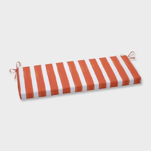 Nico Marmalade Outdoor Bench Cushion Orange - Pillow Perfect - image 1 of 1