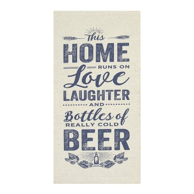 Stratton Home Decor 10 x20  Home Love And Beer Wall Art Decorative Wall Art Set Off White
