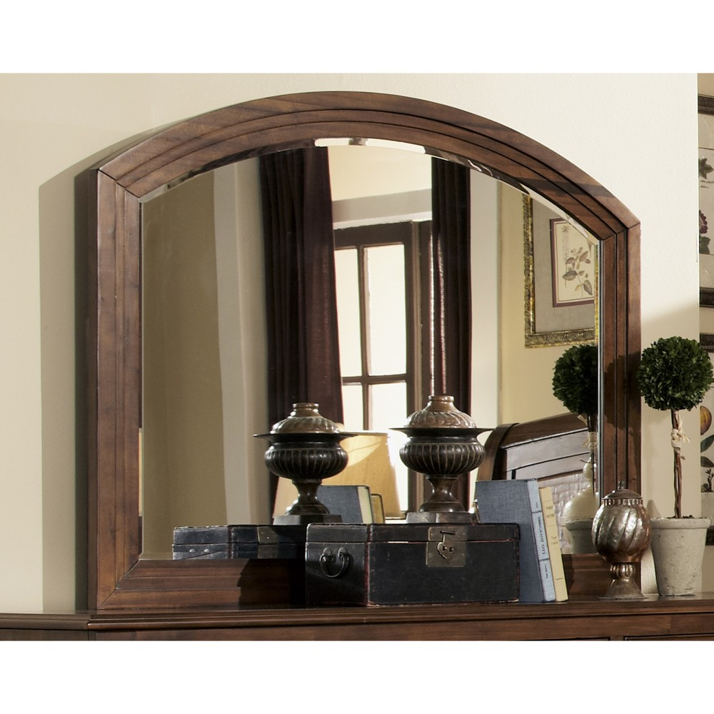 Lakeside Rounded Edge Dresser Mirror Rustic Brown - Private Reserve