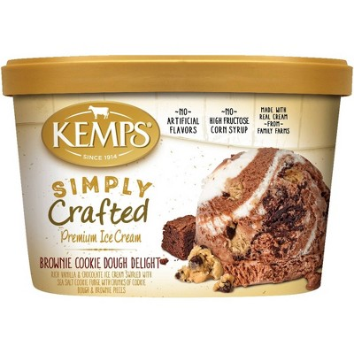 Kemps Simply Crafted Brownie Cookie Dough Delight Ice Cream - 48oz
