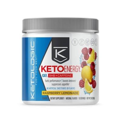 KetoLogic Energy Vegan BHB Salts - Raspberry Lemonade - 2.9oz