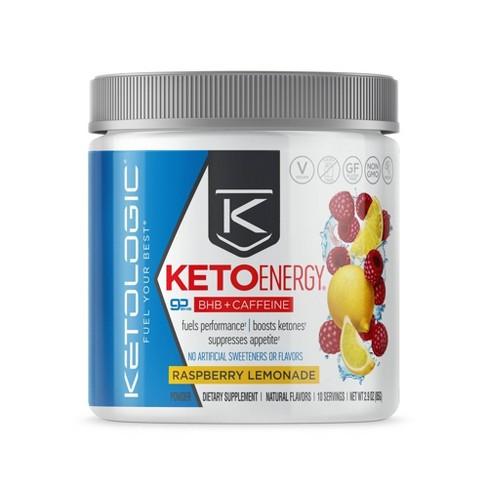 KetoLogic Energy Vegan BHB Salts - Raspberry Lemonade - 2.9oz - image 1 of 3