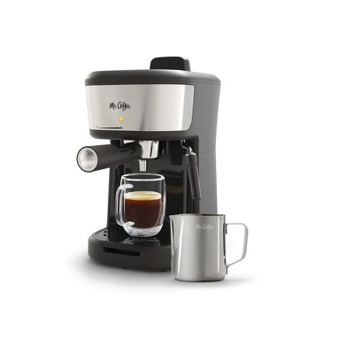 Mr. Coffee 4-Shot Steam Espresso, Cappuccino, and Latte Maker with Stainless Steel Frothing Pitcher