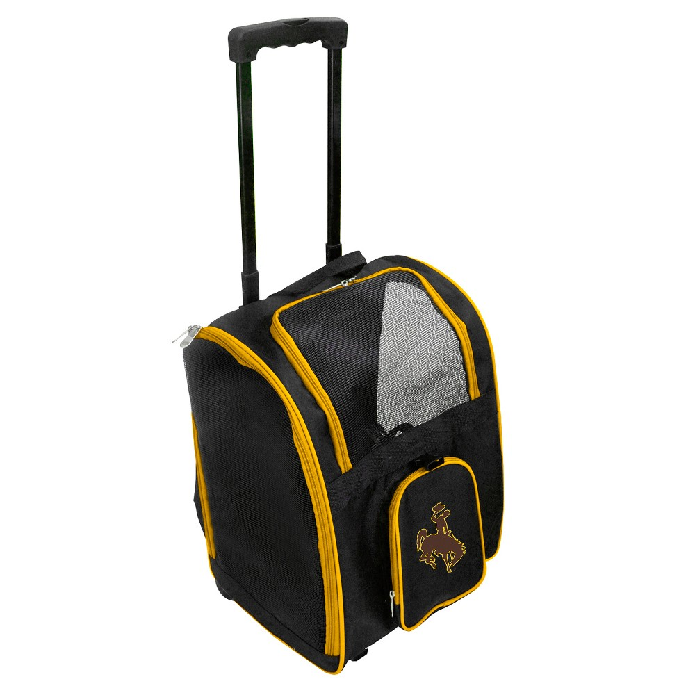 Wyoming Cowboys Premium Wheeled Travel Dog and Cat Carrier