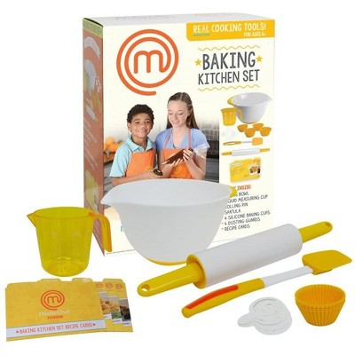 Jazwares MasterChef Junior Baking Kitchen Set - Kit Includes Real Cooking Tools for Kids and Recipes, 7pc
