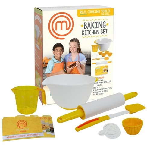 Jazwares Masterchef Junior Baking Kitchen Set Kit Includes Real Cooking Tools For Kids And Recipes 7pc Target