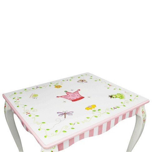3 Piece Fantasy Fields Princess Frog Table And Chair Set Wood Multi Colored Teamson Target