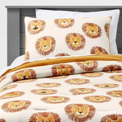 Lions Cotton Comforter Set Yellow - Pillowfort™