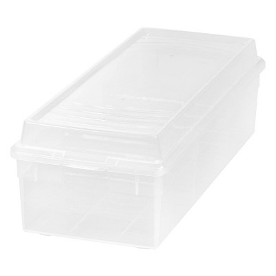 IRIS Divided Media Storage Box Clear