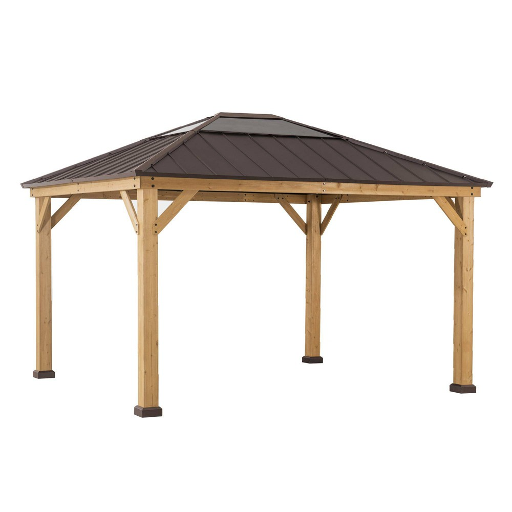 Image of Echo Park 10' x 12' Copper Steel Top Canopy Outdoor Vented Gazebo - Sunjoy