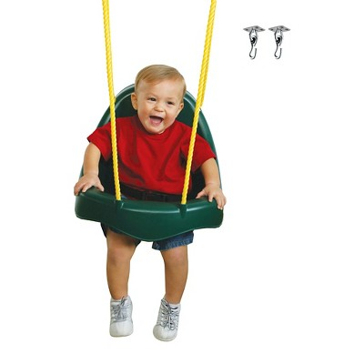 Swing-N-Slide Child Seat with Swing Hangers - Green