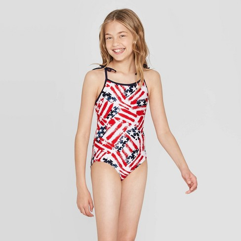 d33ab934ae Girls' Americana Family One Piece Swimsuit - Red : Target