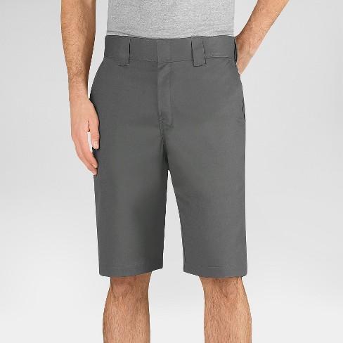 Dickies Men S Flex 11 Regular Fit Work Short Gravel Gray 38 Target