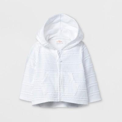 Baby Girls' Hoodie - Cat & Jack™ True White 0-3M