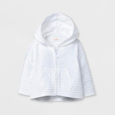 e6f61695 Baby Girls' Hoodie - Cat & Jack™ True White Newborn : Target