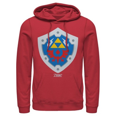 Men's Nintendo Legend of Zelda Link's Awakening Hylian Shield Pull Over Hoodie