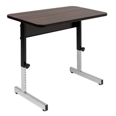 "Studio Designs Adapta Table 36"" x 20"" Top Manual Height Adjustable Desk, Walnut"