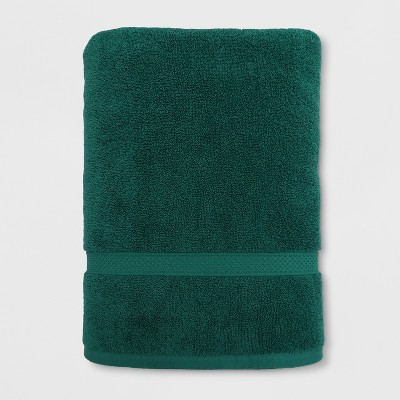 Soft Solid Bath Sheet Dark Green - Opalhouse™