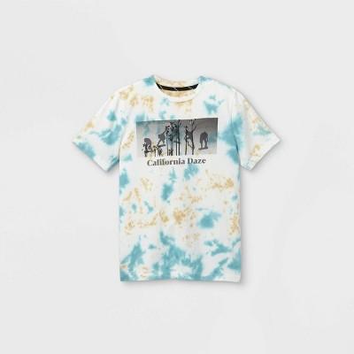 Boys' California Daze Graphic Short Sleeve T-Shirt - art class™ White/Blue