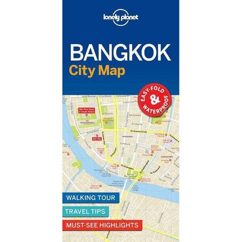 Lonely Planet Bangkok City Map - (Sheet Map, Folded) - image 1 of 1