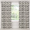 Unlined Triangle Tile Light Filtering Curtain Panel Black/White - Cloth & Co. - image 3 of 4