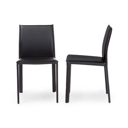 Burridge Leather Dining Chair (Set Of 2) - Baxton Studio - image 1 of 3