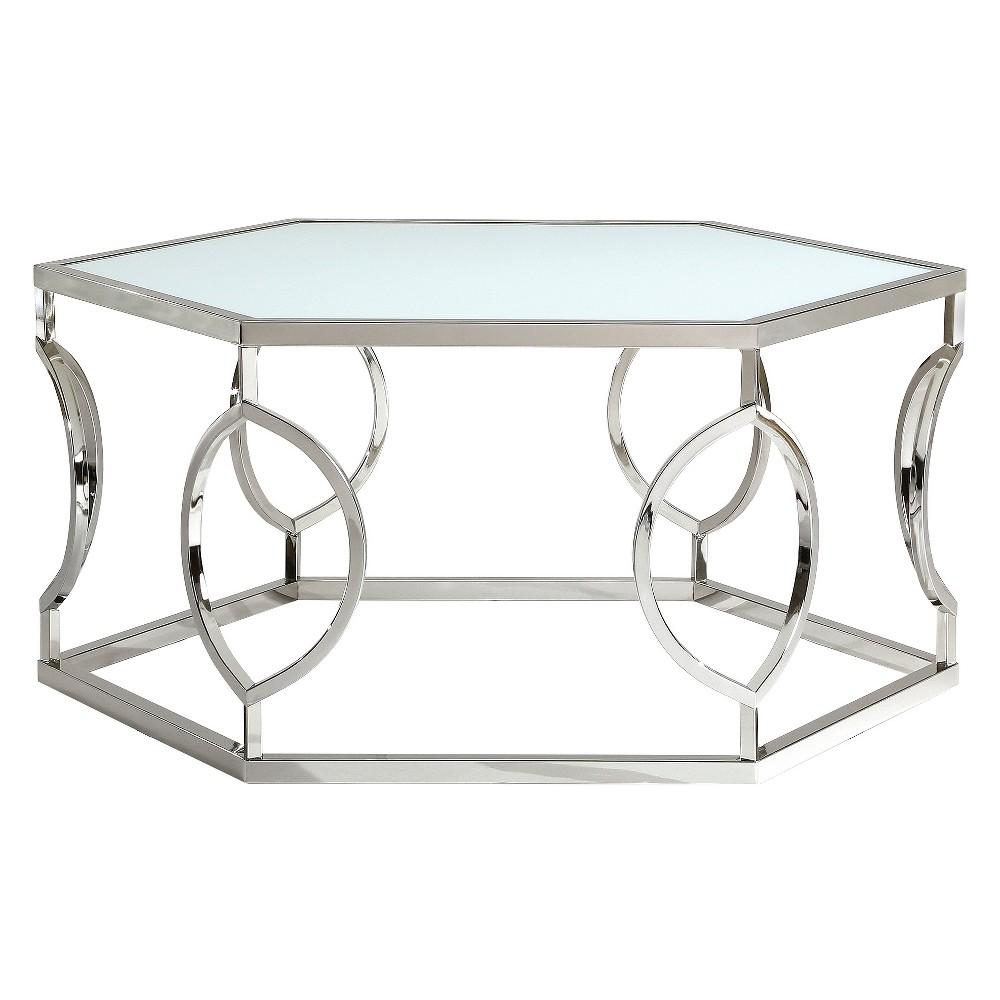 Alverne Hexagonal Cocktail Table - Chrome (Grey) - Inspire Q
