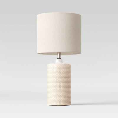 Large Assembled Ceramic Table Lamp (Includes LED Light Bulb)Cream - Project 62™