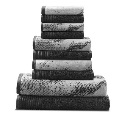 Abstract Plush Assorted 10-Piece Towel Set - Blue Nile Mills