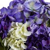 Nearly Natural Mixed Hydrangea with Vase - image 2 of 3