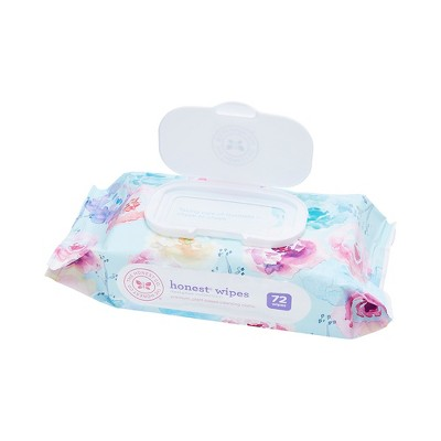 Honest Company Printed Wipes- Rose Blossom, 72ct