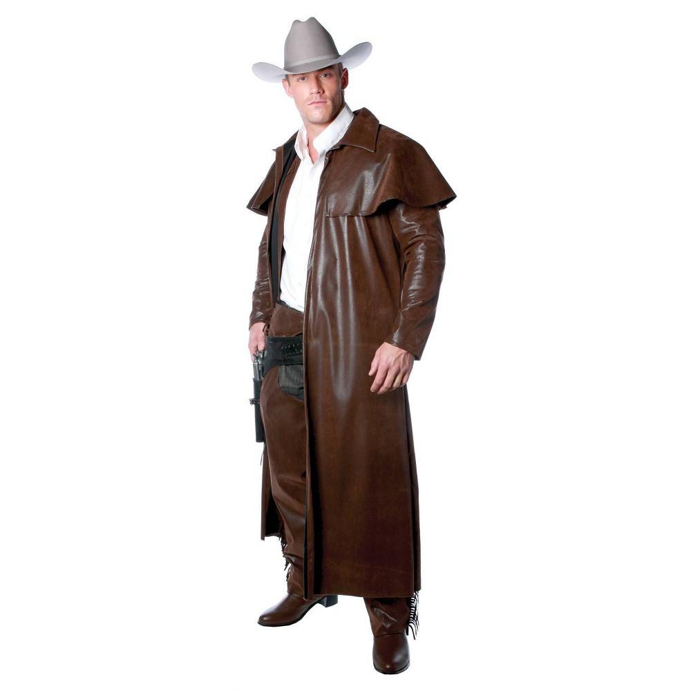 Image of Halloween Men's Duster Coat Costume Brown One Size
