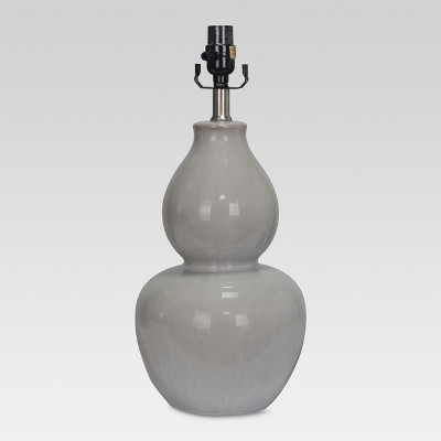 Ceramic Double Gourd Large Lamp Base Gray Lamp Only - Threshold™