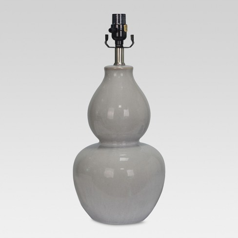 Ceramic Double Gourd Large Lamp Base Gray Lamp Only - Threshold™ - image 1 of 2