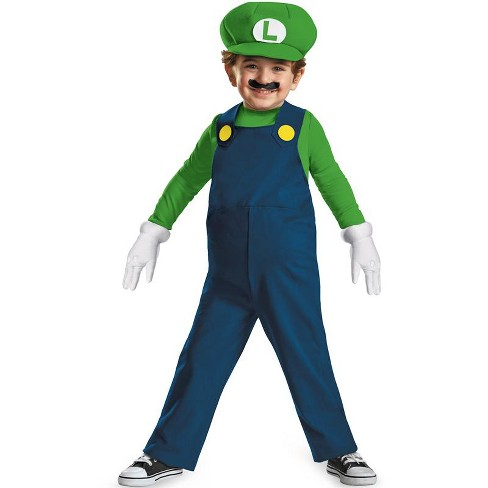 Super Mario Luigi Toddler Costume Target