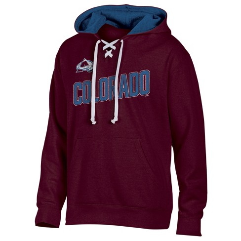 NHL Colorado Avalanche Men s Hat Trick Laced Hoodie   Target c0a5e23ab