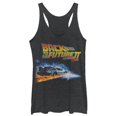 Women's Back to the Future Part 2 Electric DeLorean Racerback Tank Top