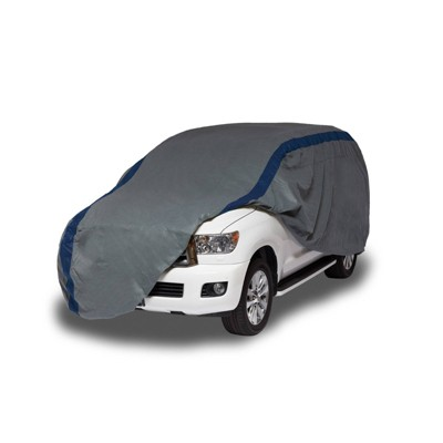 """Duck Covers 13""""x6"""" Weather Defender SUV Automotive Exterior Cover Gray/Blue"""