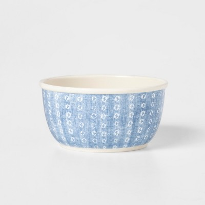 30oz Melamine Cereal Bowl Blue/White - Threshold™