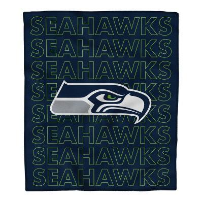 NFL Seattle Seahawks Echo Team Wordmark Plush Blanket